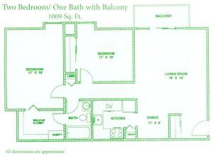 floorplan-2bed-1bath-balcony-1009sqft